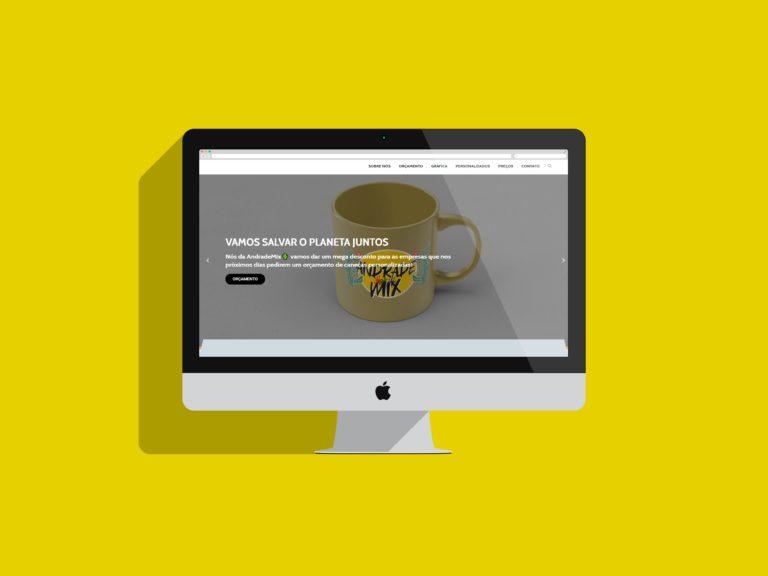criação de sites - andrade mix
