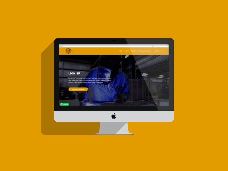 criação de sites - lion